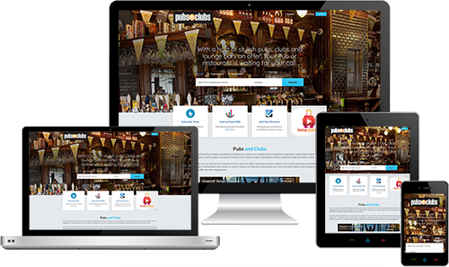 Pubs and Clubs displayed beautifully on multiple devices