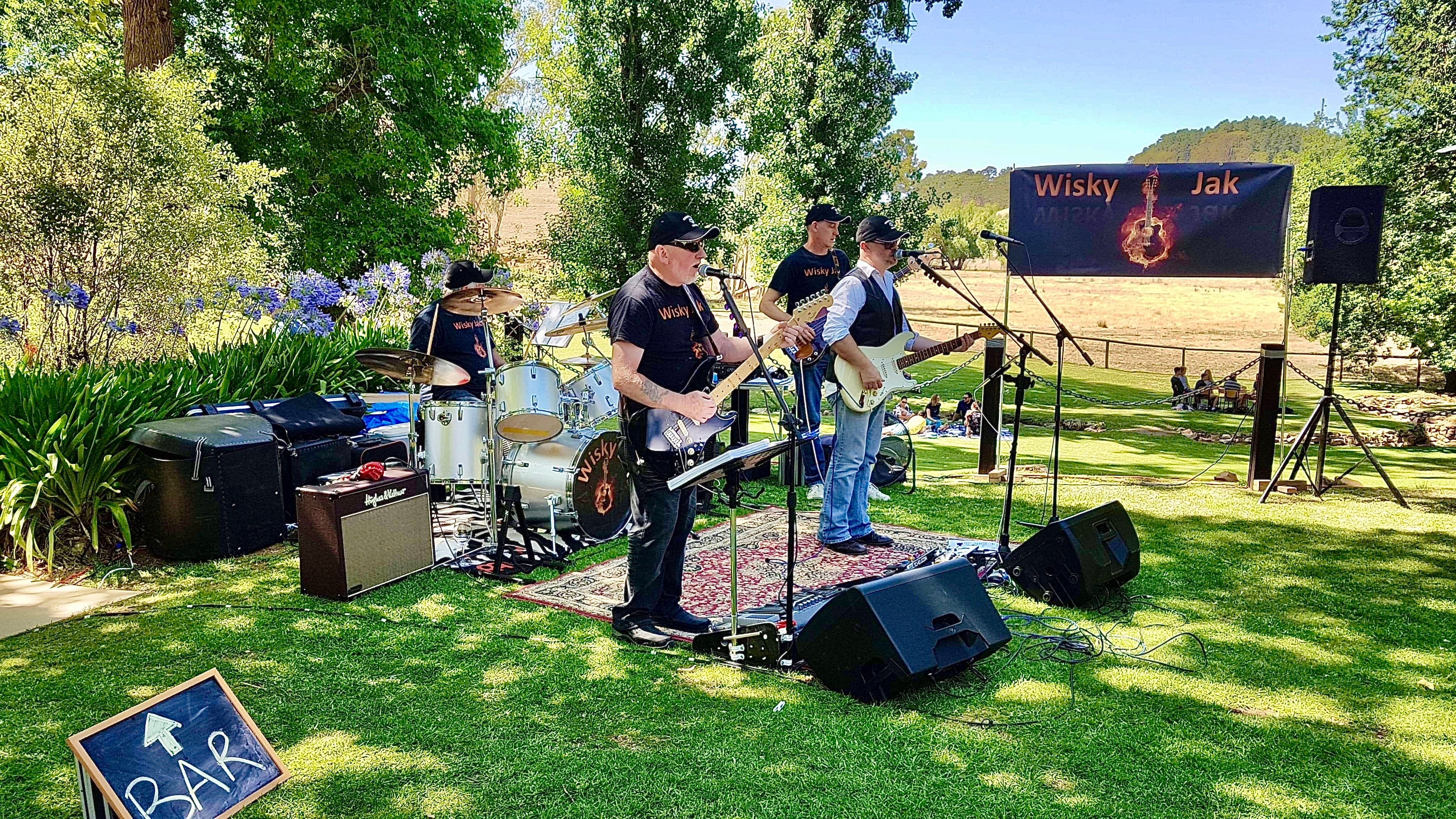 Angas Plains Wines Live in the Vines with the band -Wisky Jak - Pubs and Clubs