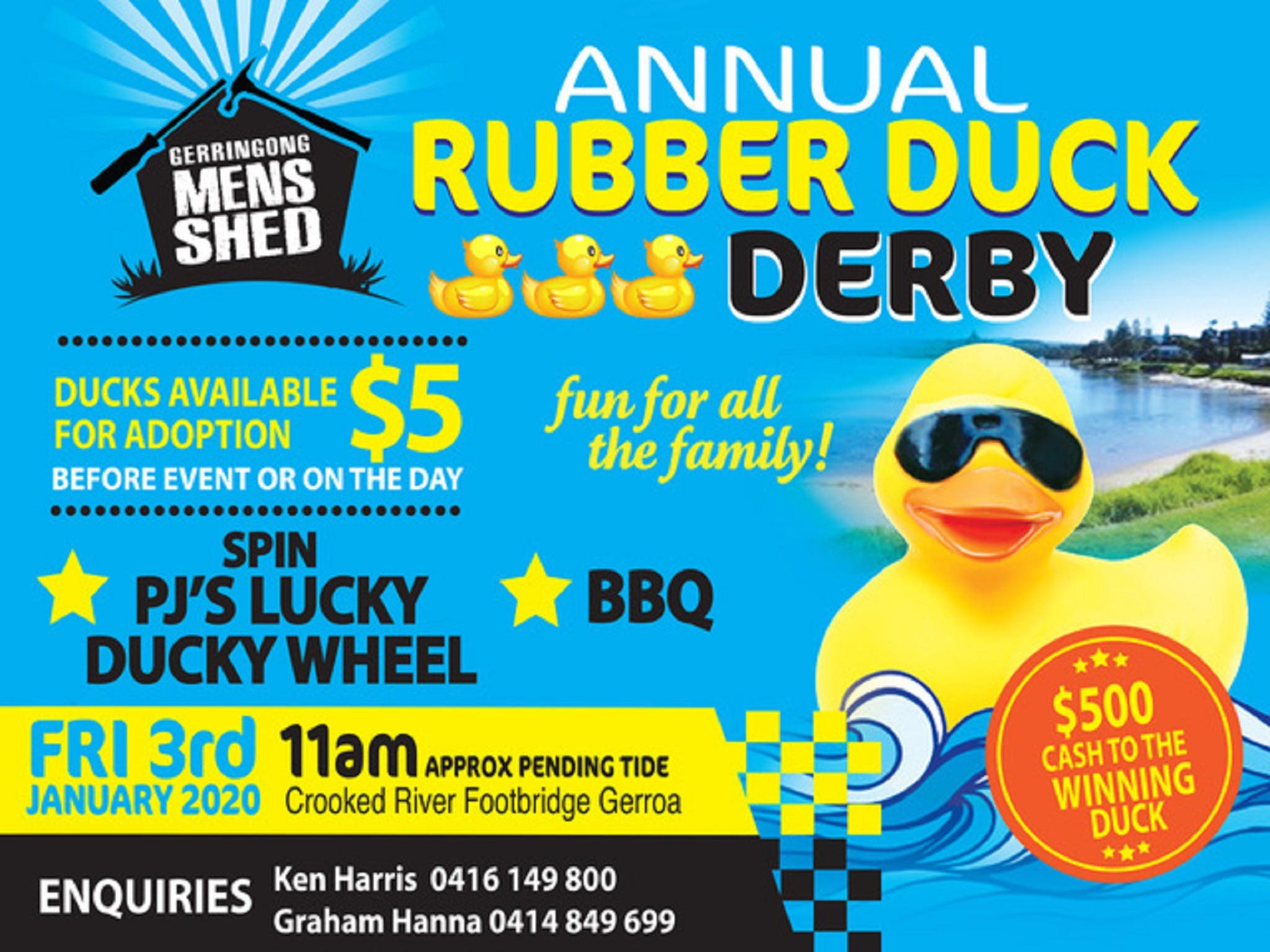 Gerringong Mens Shed Annual Duck Derby - Pubs and Clubs