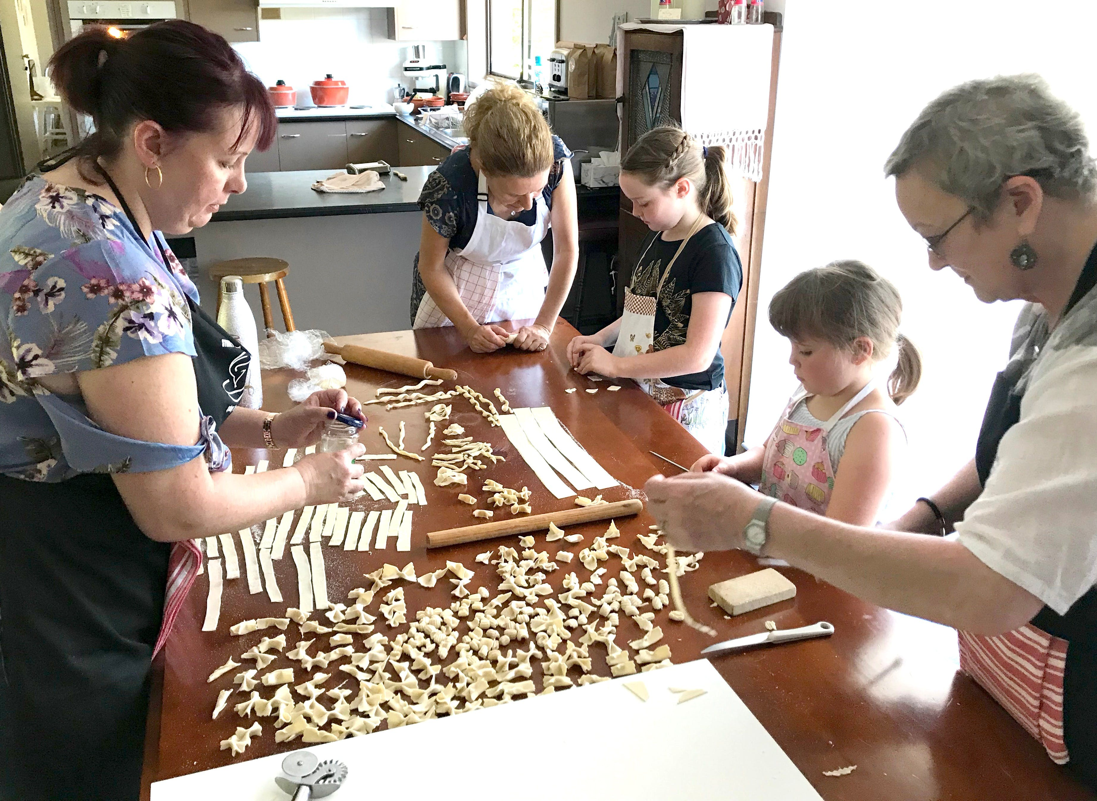 Kids Pasta Making Class - hands on fun at your house - Pubs and Clubs