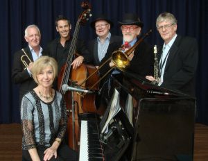 The Caxton Street Jazz Band in the Swigmore Hall at Robert Channon Wines - Pubs and Clubs
