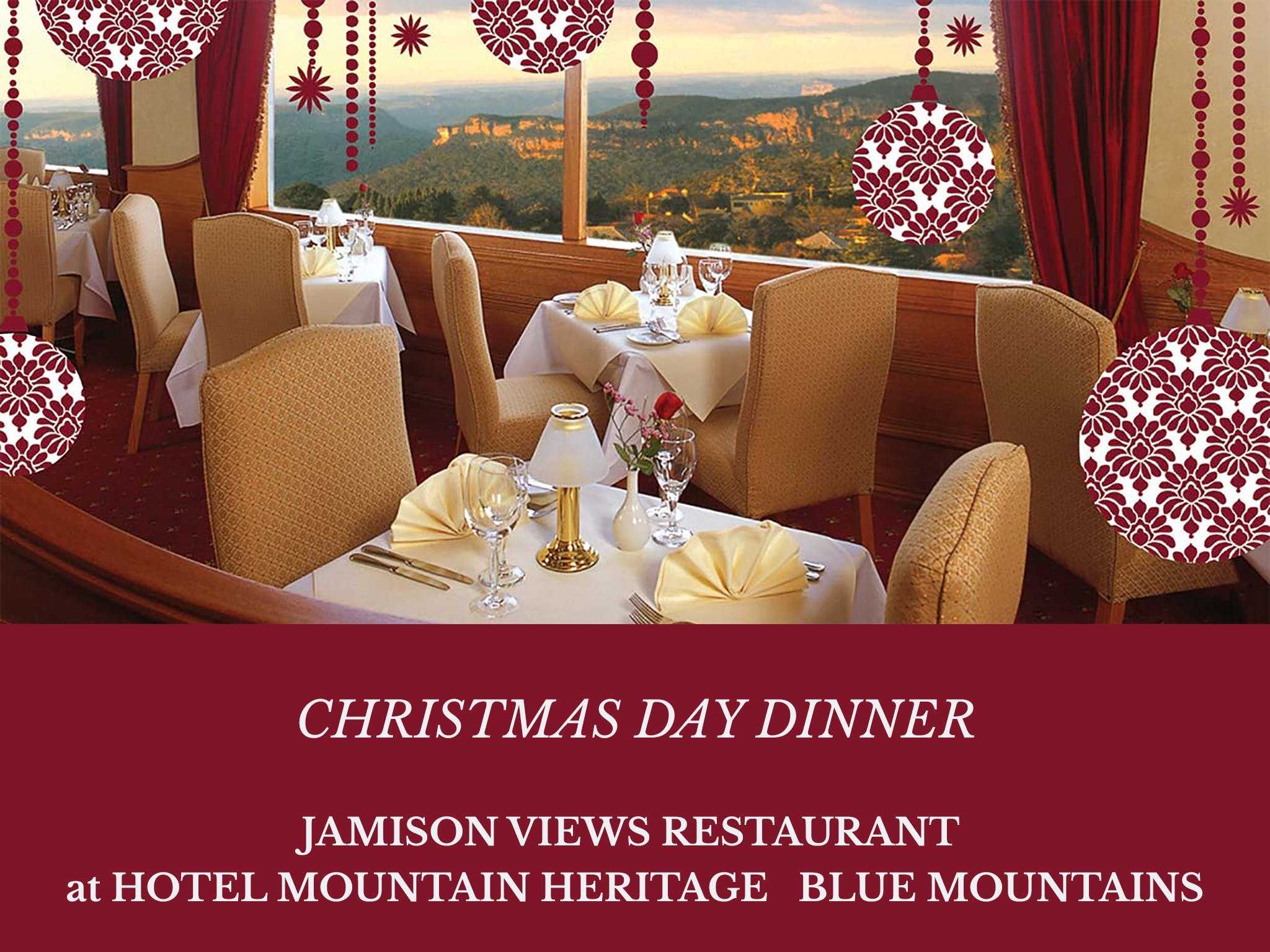 Christmas Day Dinner Hotel Mountain Heritage - Pubs and Clubs